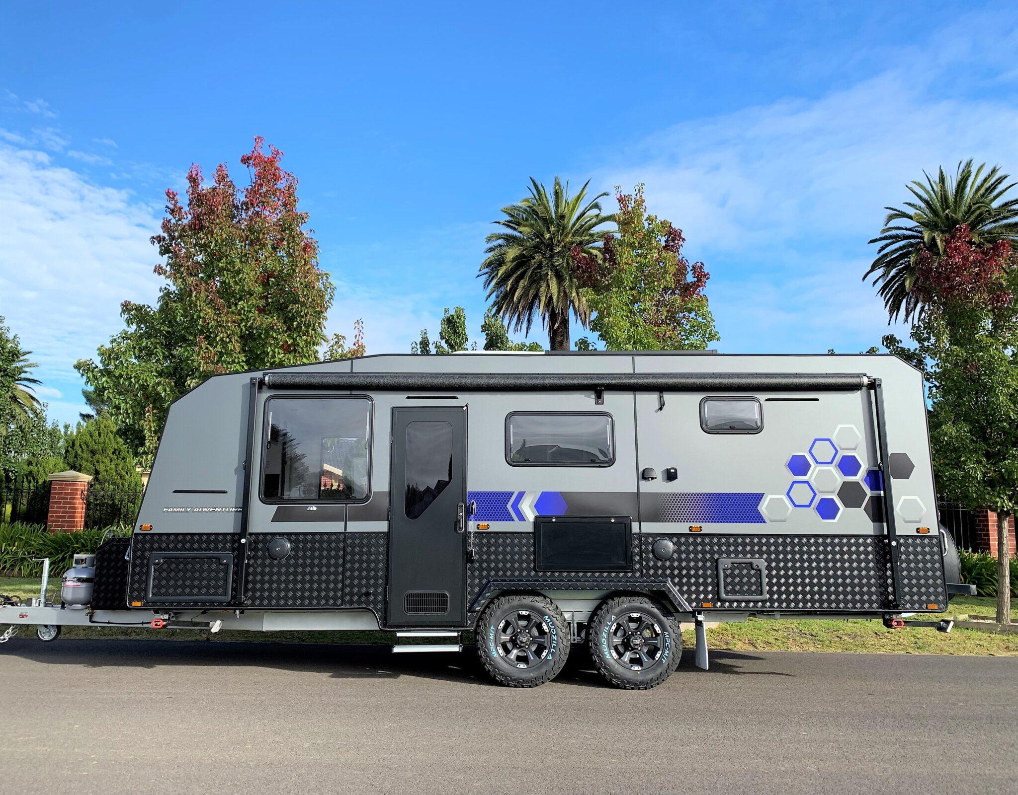 Brand new 2021 21'5 ft Malibu Family Adventure semi off road 4 berth shower and toilet double bunk caravan