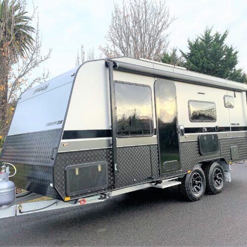 Brand new in stock 2021 Strada 21ft Family double bunk caravan with full en-suite